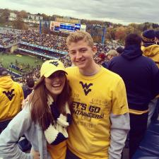 Handsome couple enjoys game at WVU!