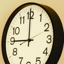 Clock represents how ears tell time