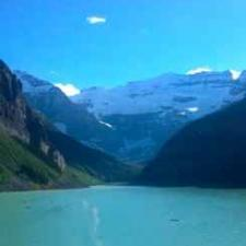 Lake Louise is a beautiful place to contemplate hearing loss statistics