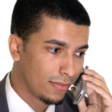 business man on cell phone